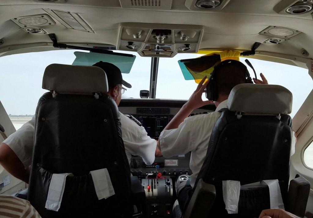 Pilotos de avión con estrés