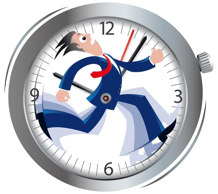 Persona con prisas para organizar su tiempo