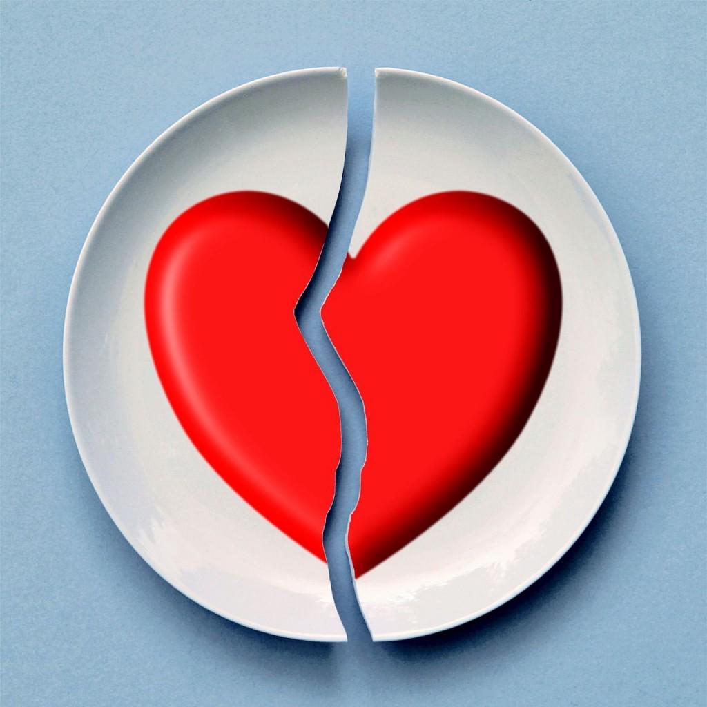 Corazón roto trás una ruptura sentimental
