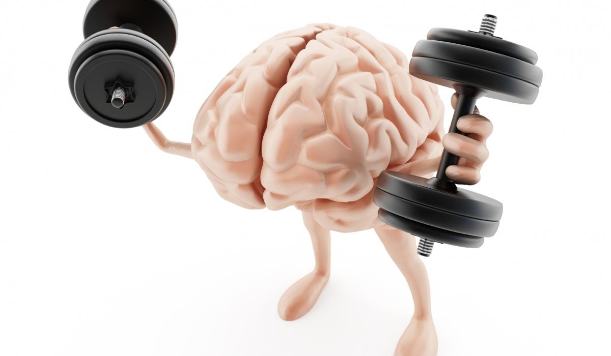 Cerebro ejercitándose para mejorar la memoria