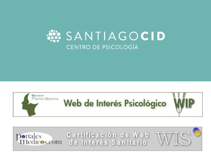 Logotipos de Centro de psicologia Santiago Cid y webs de intereses para la salud