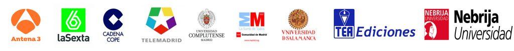 Logotipos de los medios de comunicación en los que colabora Santiago Cid