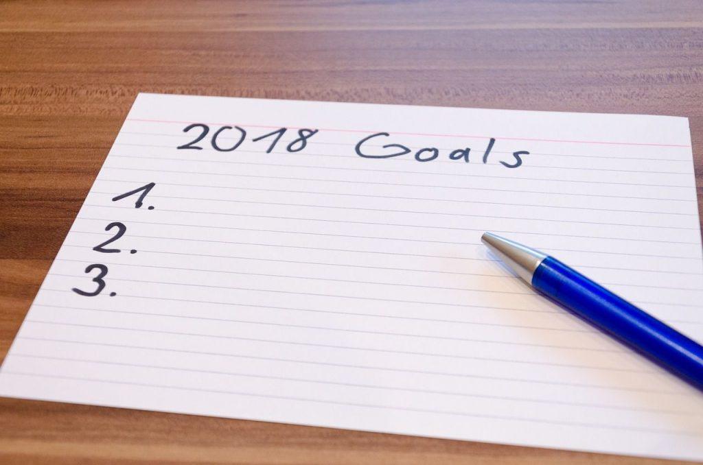 Ficha con objetivos a cumplir y expectativas para 2018