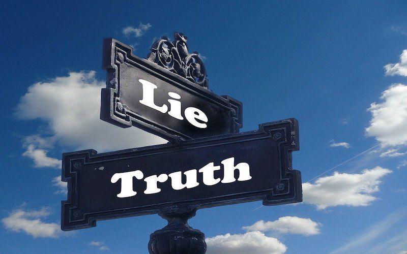 señales con la palabra mentira y verdad